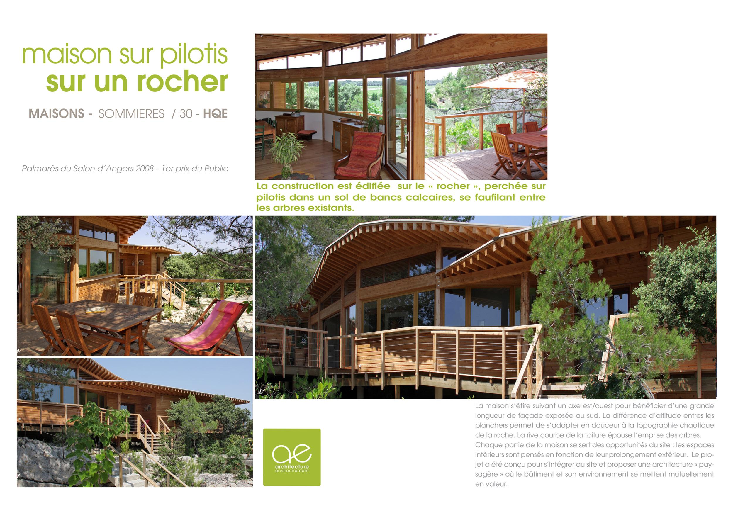Maison sommi res architecture environnement pm for Maison sommieres