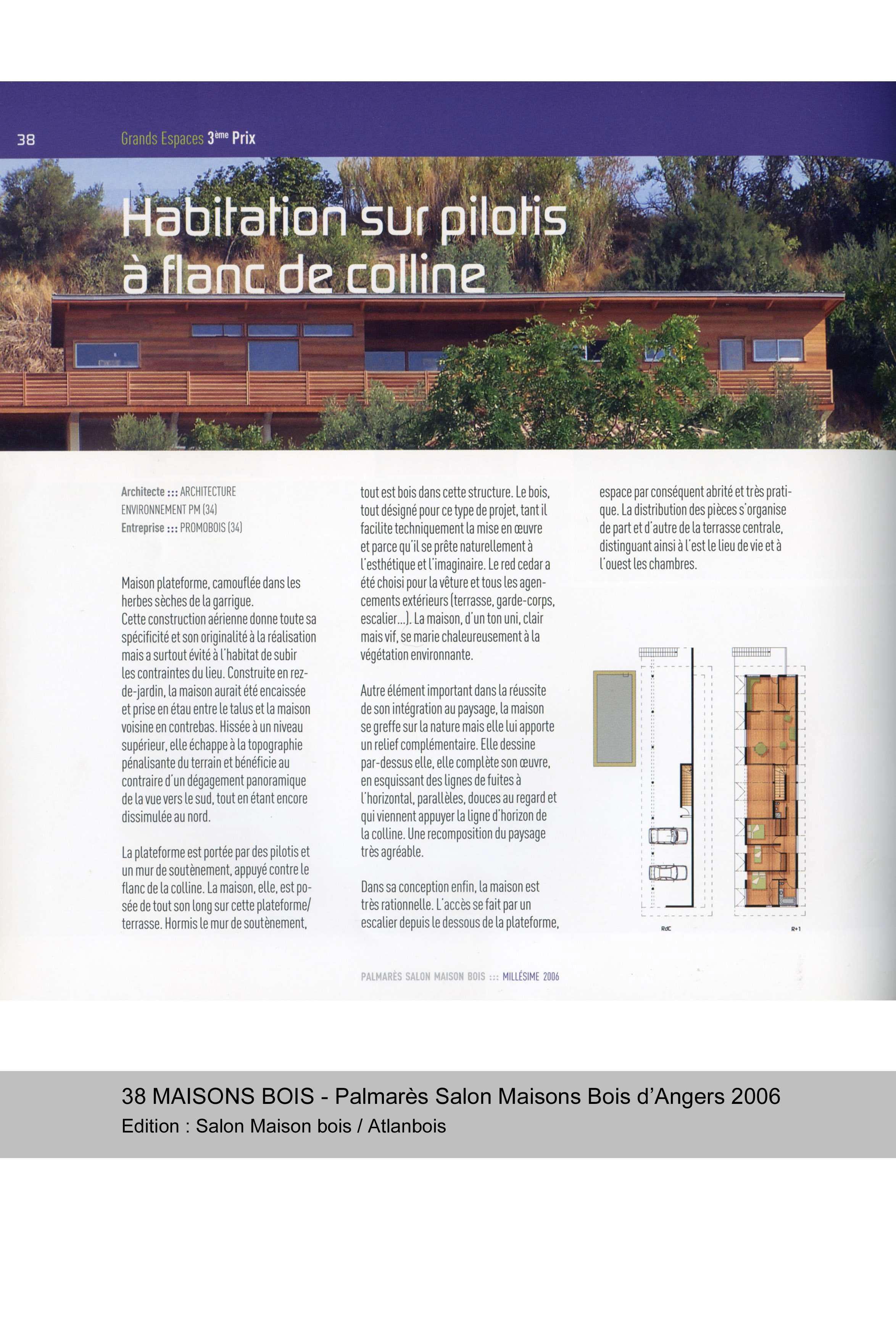 palmares-salon-maison-bois-dangers-2006-habitation-sur-pilotis-a-flanc-de-colline