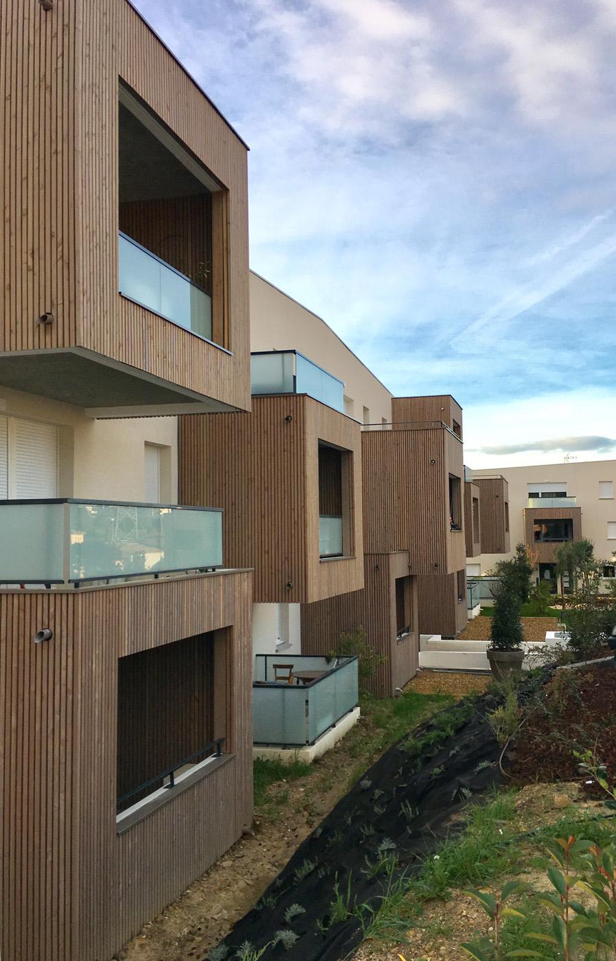 Résidence Tony Garnier 64 logements collectifs à Grabels_vue sur les loggias
