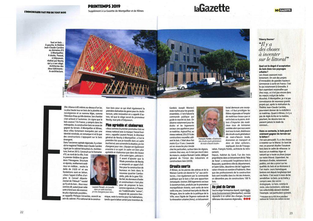 Supplément à la Gazette de Montpellier et de Nîmes - Printemps 2019 partie 1/2