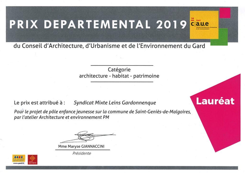 Prix départemental 2019 CAUE30