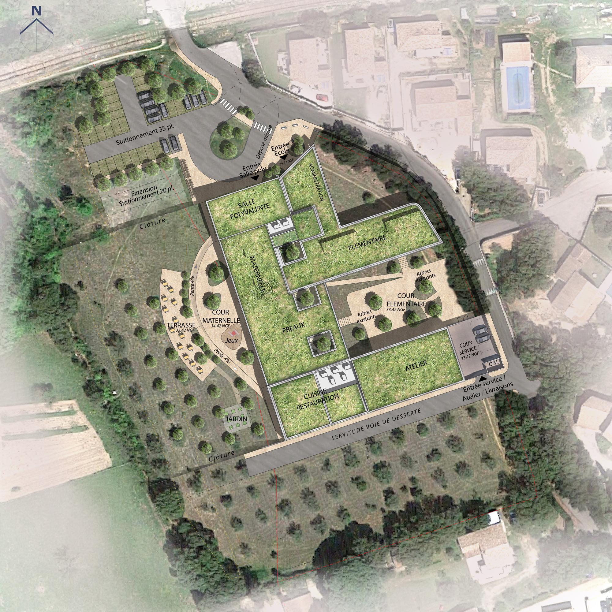 Plan de masse - Castillon du Gard