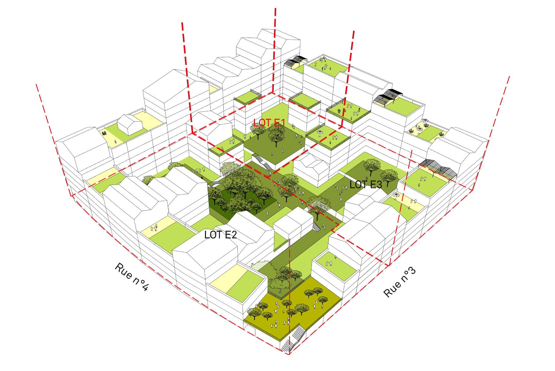 ACM 79 logements collectifs ZAC République Montpellier_Vue d'ensemble de l'ilot E