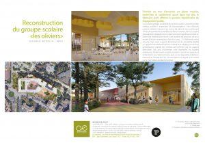 Fiche projet Groupe scolaire les Oliviers à Béziers