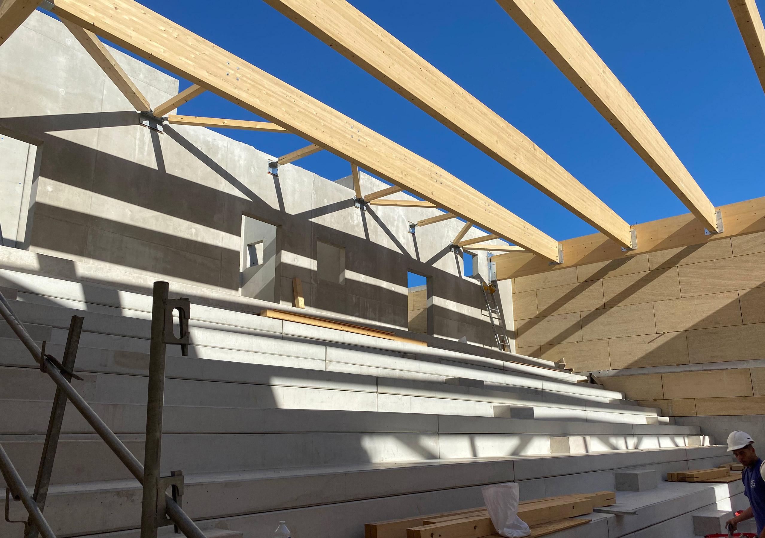 groupe scolaire_Rousson_photo de chantier - auditorium