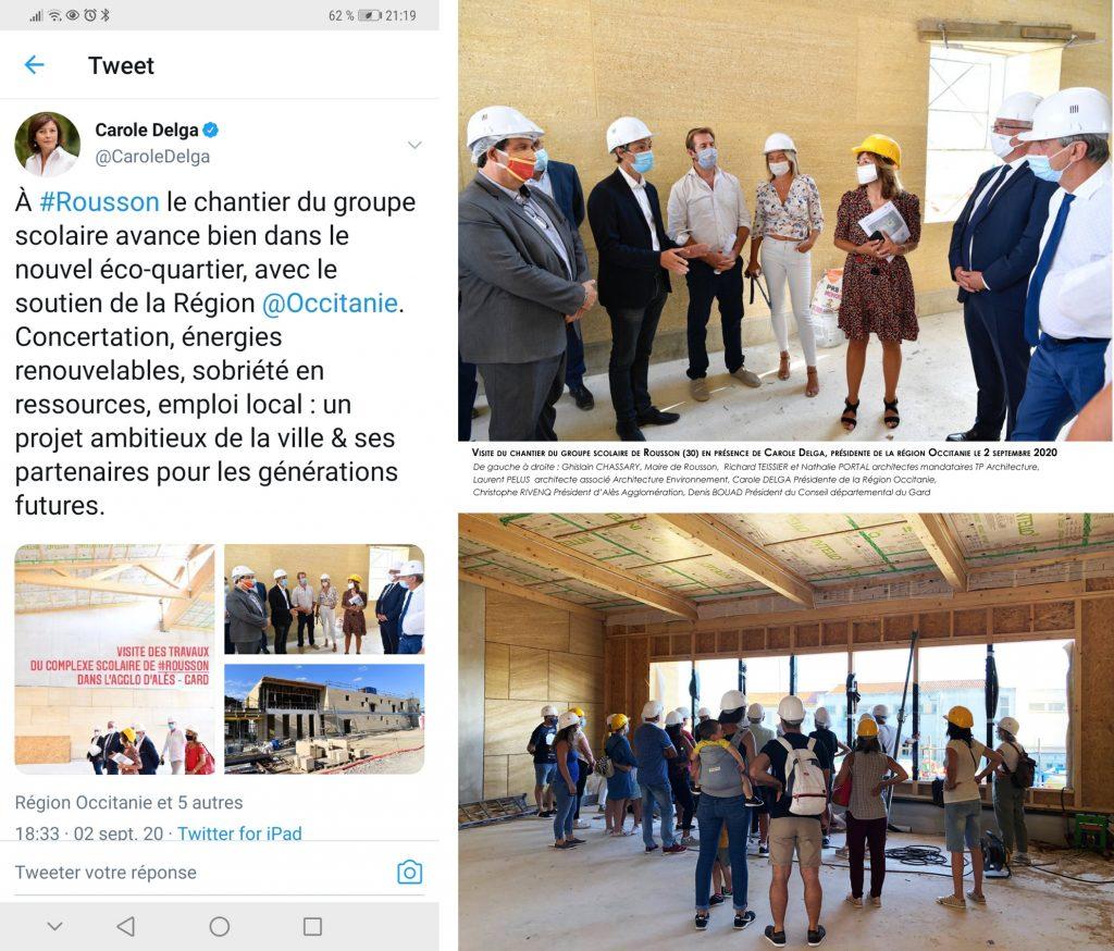 groupe scolaire_Rousson_visite de chantier du 2 septembre 2020