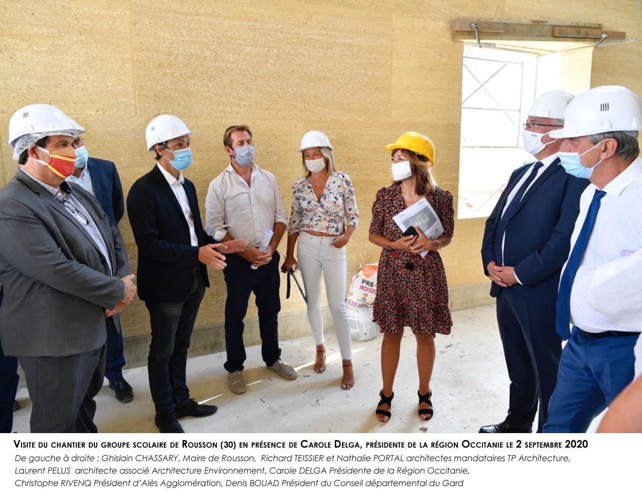 groupe scolaire_Rousson -  visite de chantier des habitants le 2 septembre 2020