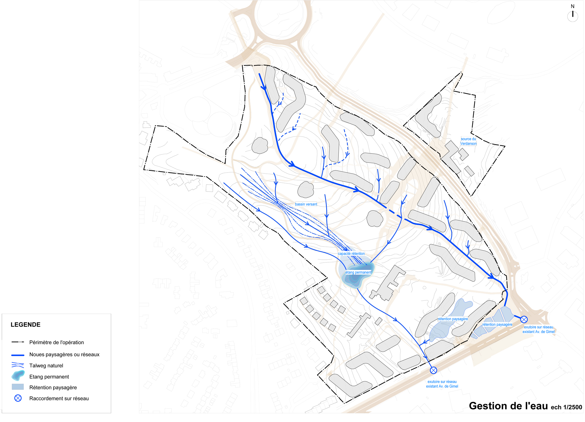Eco-quartier Gimel_Grabels_gestion de l'eau