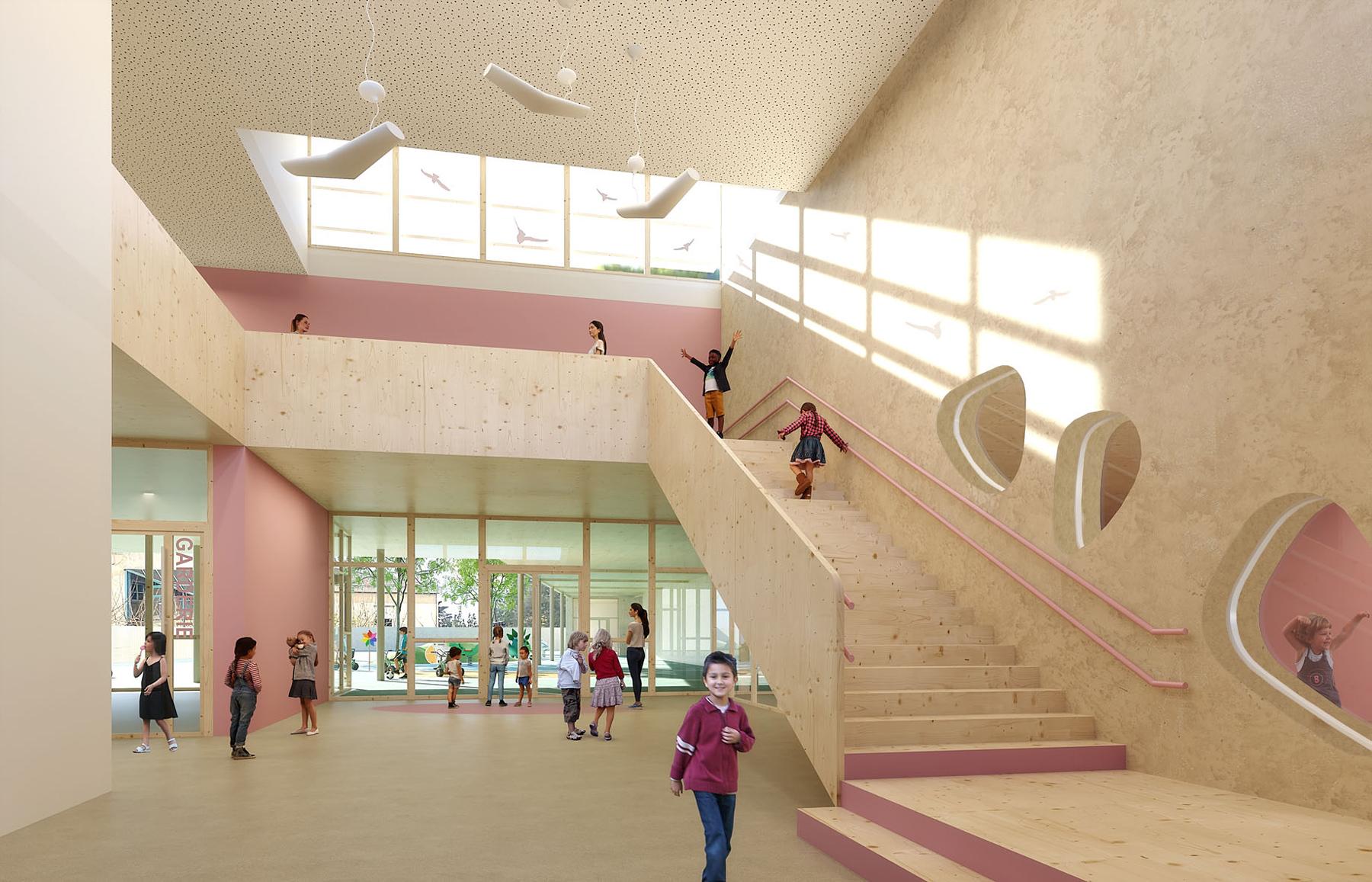 Groupe scolaire de Six-Fours-les-Plages_hall maternelles